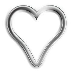 Silver Heart - colored illustration