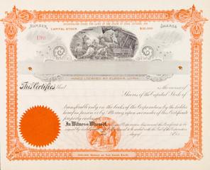 U.S. Mining Co Stock Certificate Eureka Utah 1898