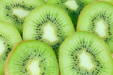 Macro photo of a fresh kiwi
