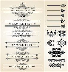 calligraphic design set
