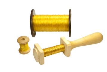 Coils with gold threads