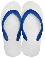 Flip Flops white color isolated on white