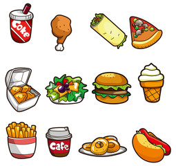 cartoon fastfood  icon