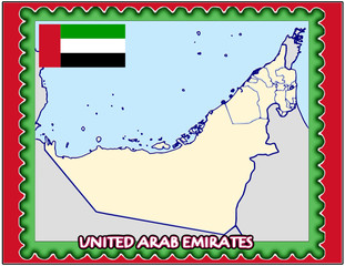 Arab Emirates national emblem map coat flag business background
