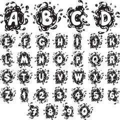 Splash Alphabet Letters and Numbers