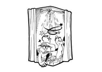 Dusche ausgerutscht