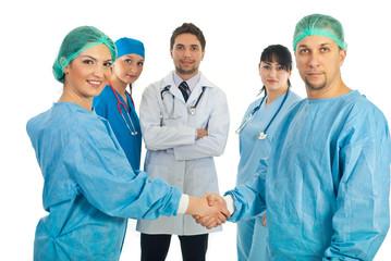 Surgeons handshake