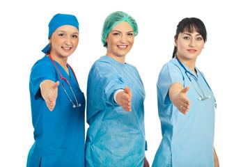 Doctors women welcoming