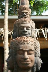 Cambodian stone statue, Poi Pet, Thailand.