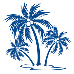 Silhouette Palm trees