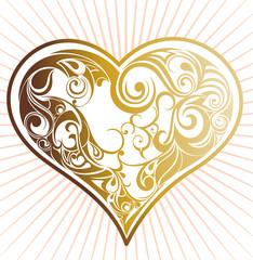 Sunny floral heart