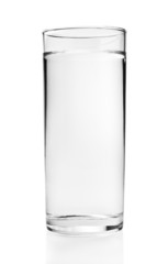 Full glass of water isolated on white background