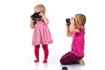 Children photographing