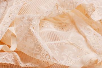 beautiful beige gentle lace