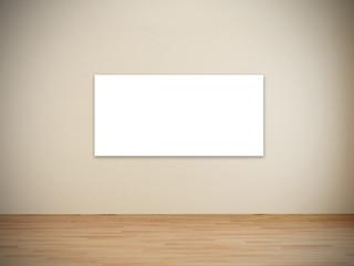 Blank frames in art gallery