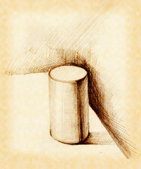 Cylinder in pencil