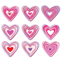 set-of-hearts