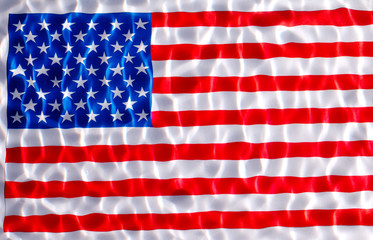 usa  flag under water with nice circles and ripples