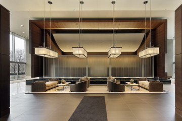 Lobby of high rise