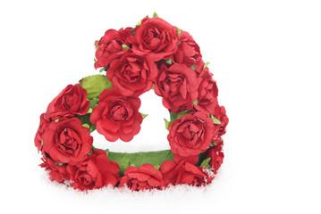 Rose Valentine Heart In Snow