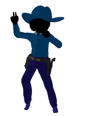 Teen Cowgirl Illustration