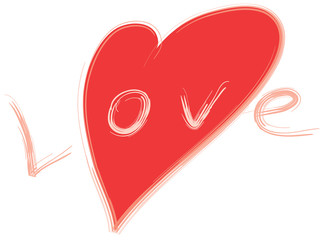stylized love symbol