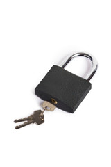 Lock with key isolated