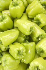 green peppers(background)