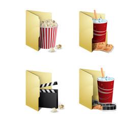 Cinema folder icons