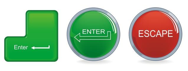 color buttons enter escape