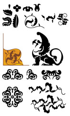 vector design elements with griffin