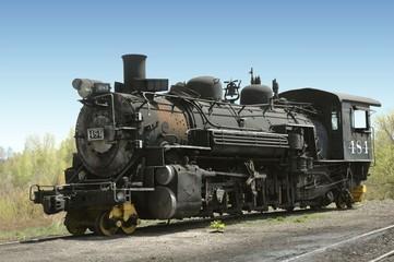 Antique steam locomotive