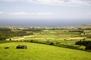 landscape from Azores in Portugal