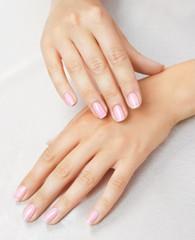 Aluminium Prints Manicure Massage of woman's hands