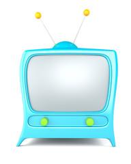Cartoon styled tv isolated on white background