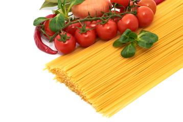 Italian pasta spagetti with vegetables