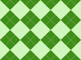 Seamless argyle pattern in green rhombuses