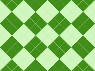 Seamless argyle pattern in green rhombuses