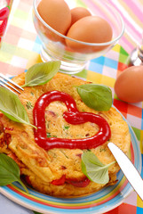 omelette with vegetables