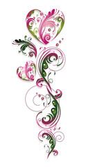 Ranke, flora, filigran, Blumen, Blüten, Valentin, Liebe