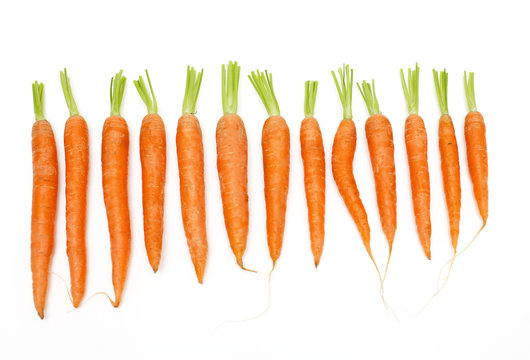 carrots of different sizes and shapes