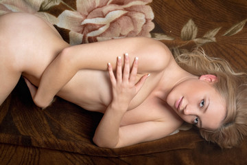 Sexy naked young blonde