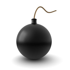 3d image of a bomb isolated on white background