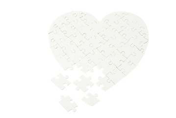 heart from puzzle