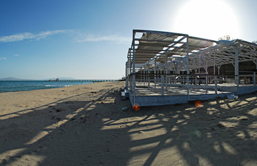 hi res panorama picture of the beach located in Burgas Bulgaria