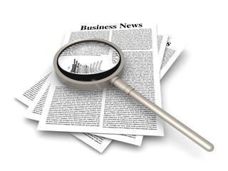 Photo sur Aluminium Journaux Business news