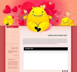 website vector cartoon characters