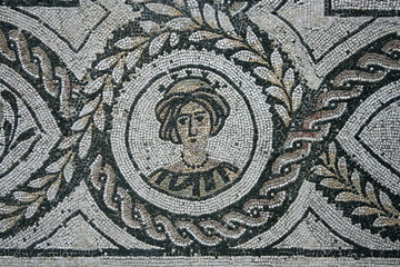detail of mosaic in Ostia Antica - Rome