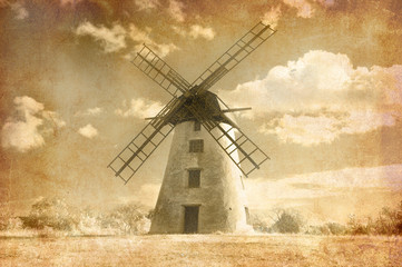 Grungy windmill