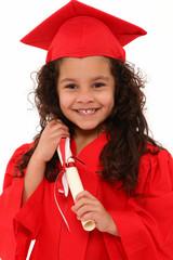 Proud Preschool Girl Graduate Child